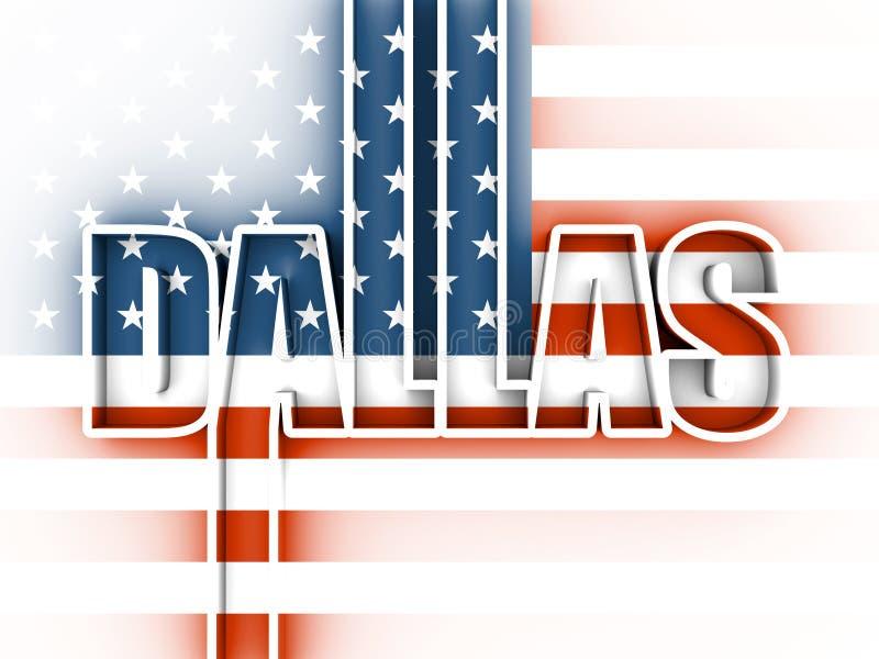 Dallas-Stadtname stock abbildung