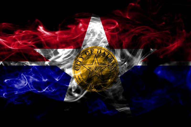 Dallas-Stadtrauchflagge, Staat Illinois, die Vereinigten Staaten von Amerika vektor abbildung