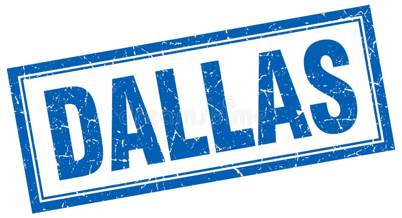Dallas-Stempel lizenzfreie abbildung