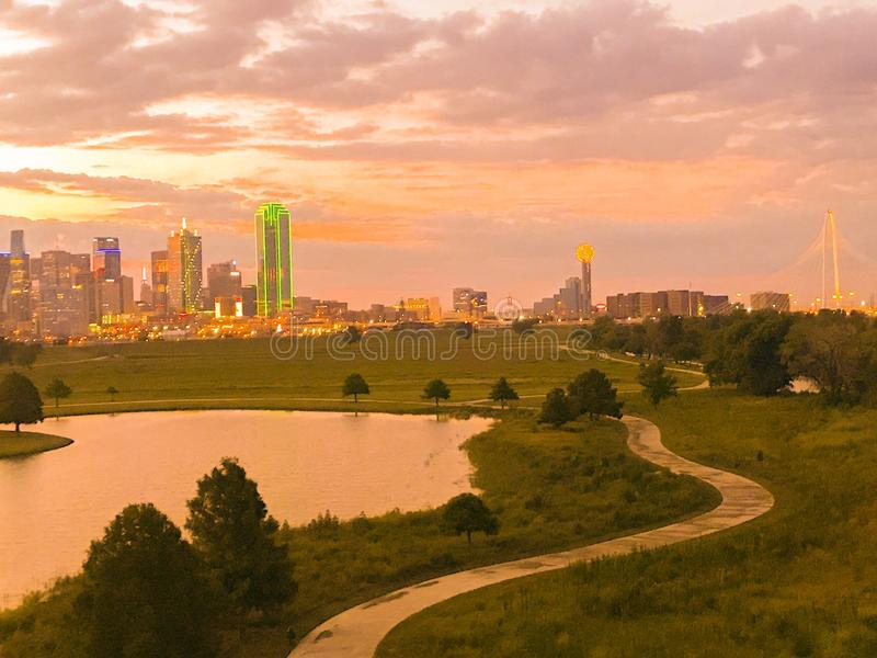 Dallas Sun Rise imagem de stock royalty free