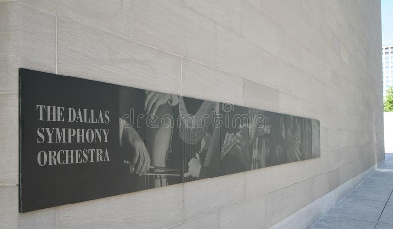 The Dallas Symphony Orchestra. DSO is an American orchestra based in Dallas, Texas. Its principal performing venue is the Meyerson Symphony Center in the Arts stock photography