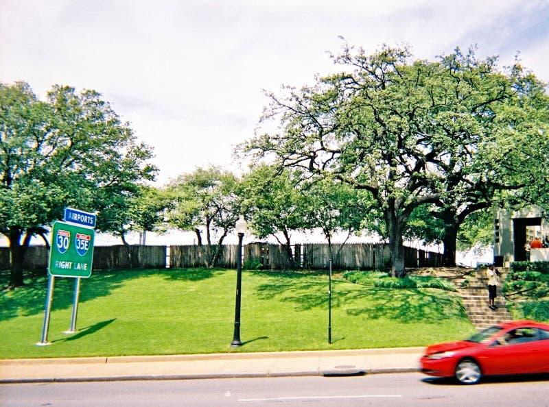 Dallas, Tejas, los E.E.U.U., el 15 de mayo de 2008: Plaza de Dealey en Dallas céntrica La ubicación del asesinato de presidente J imágenes de archivo libres de regalías