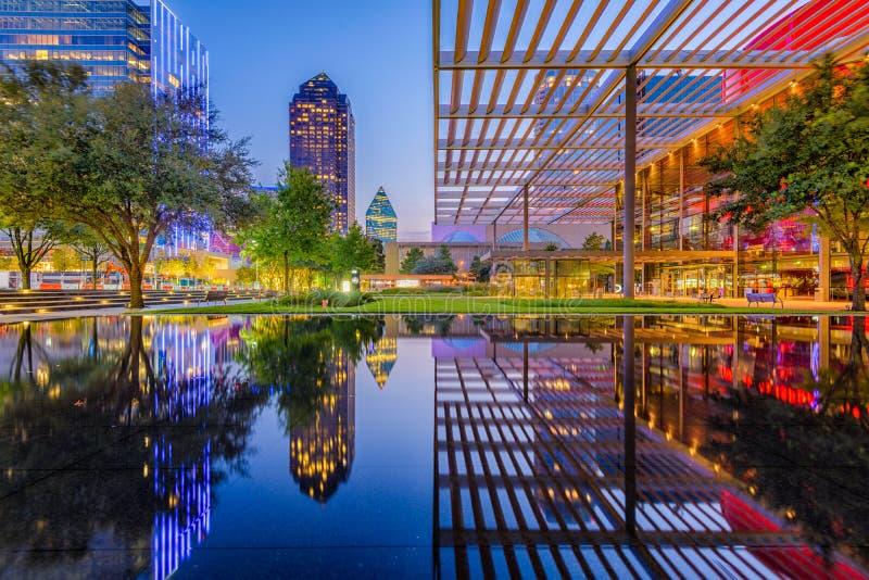 Dallas Teksas śródmieście zdjęcia stock