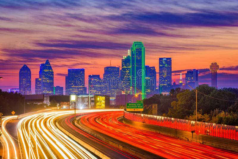 Dallas, Teksas linia horyzontu zdjęcie royalty free
