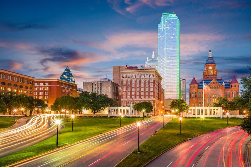 Dallas, Teksas, usa Dealey plac fotografia royalty free
