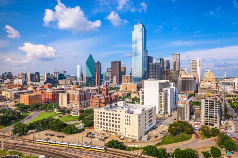 Dallas, Teksas, usa linia horyzontu zdjęcia stock