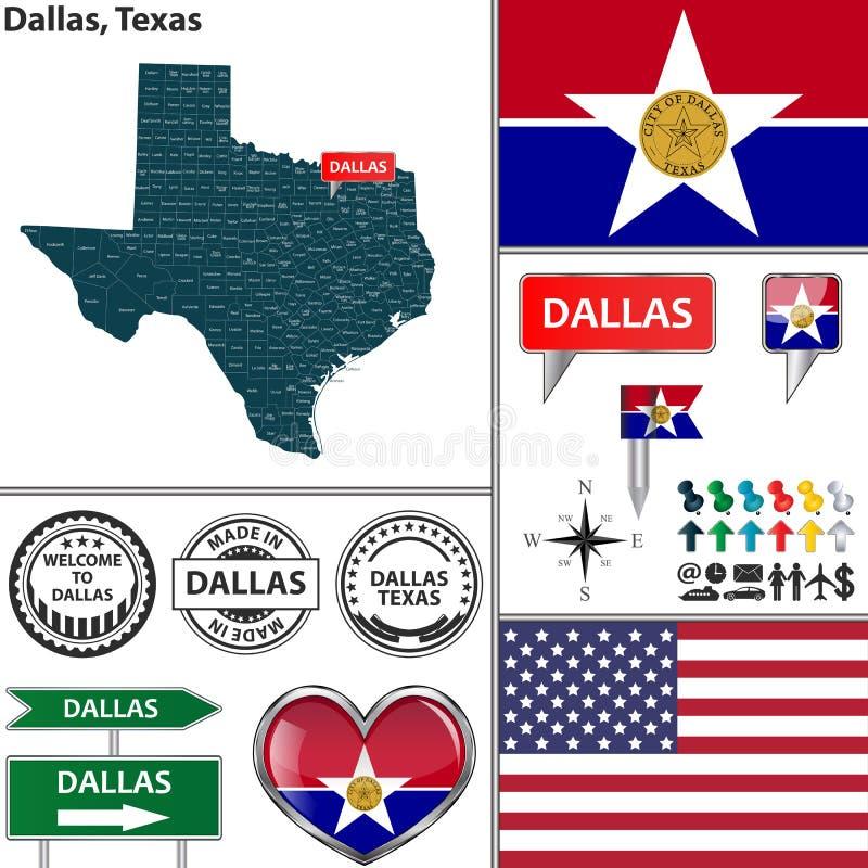 Dallas, Texas royalty-vrije illustratie