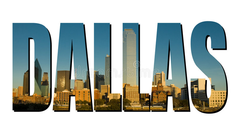 Dallas Texas stock afbeelding