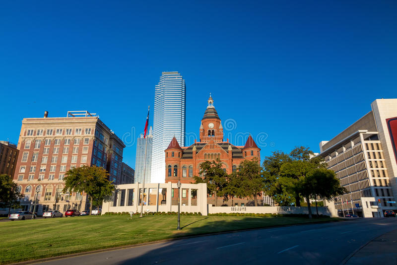 Dallas, Texas cityscape with blue sky royalty free stock photo