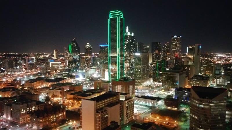 Dallas Texas Downtown Night Scape stock afbeeldingen