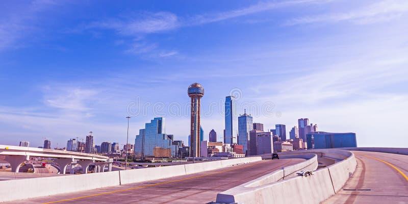 Dallas Texas miasta śródmieście i linia horyzontu zdjęcia stock