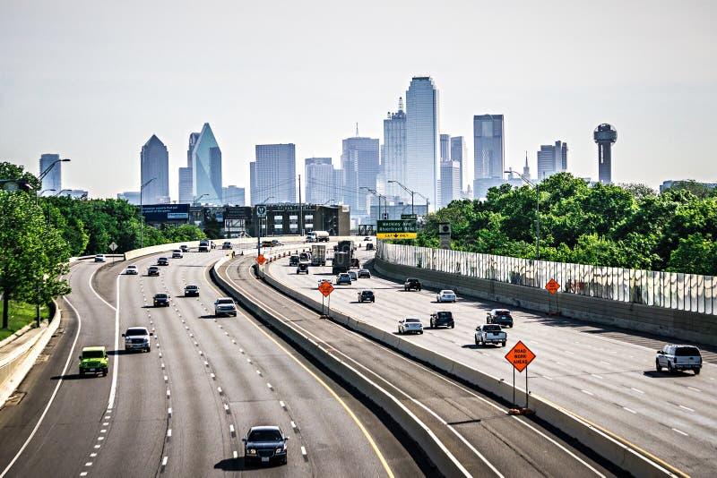 Dallas Texas miasta linia horyzontu przy dniem zdjęcia royalty free