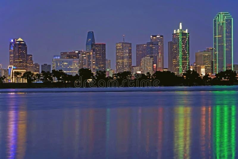 Dallas Texas no Trinity River fotos de stock royalty free