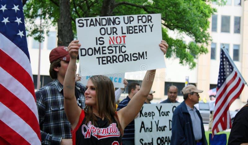 Dallas Texas Tea Party stock photos