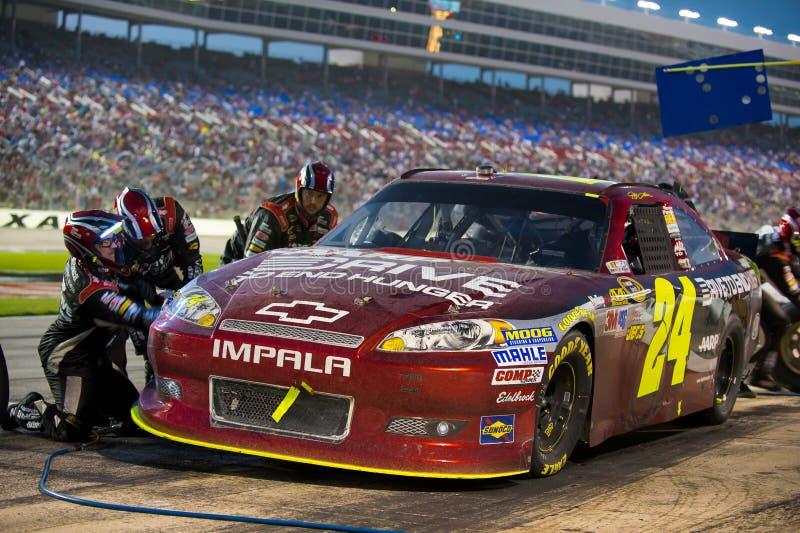 DALLAS, TX - 04 NOVEMBER: Jeff Gordon 24 tijdens bij kuileinde bij t stock foto's