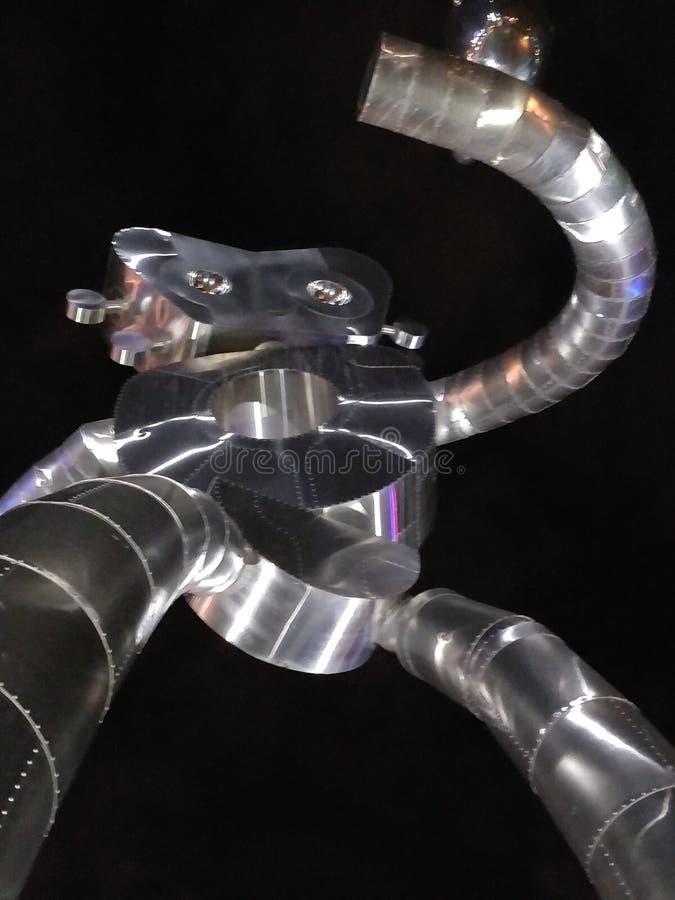 Robot sculpture photo stock image