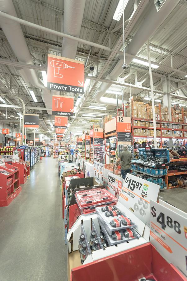 Aisle Home Depot Hardware Store Stock Images Download 53