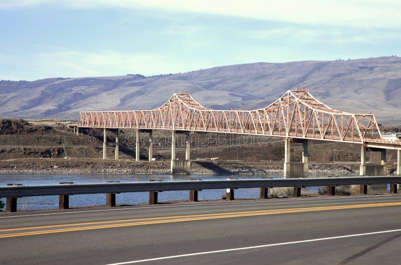 The Dalles bridge, Oregon state. stock images