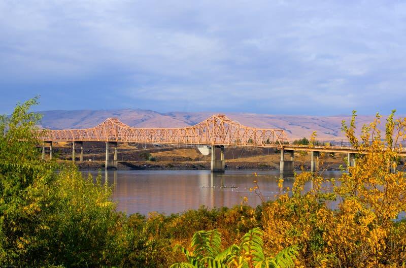 The Dalles Bridge stock photo