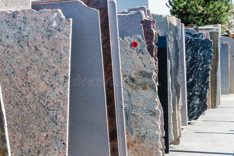 Dalles de granit photo stock