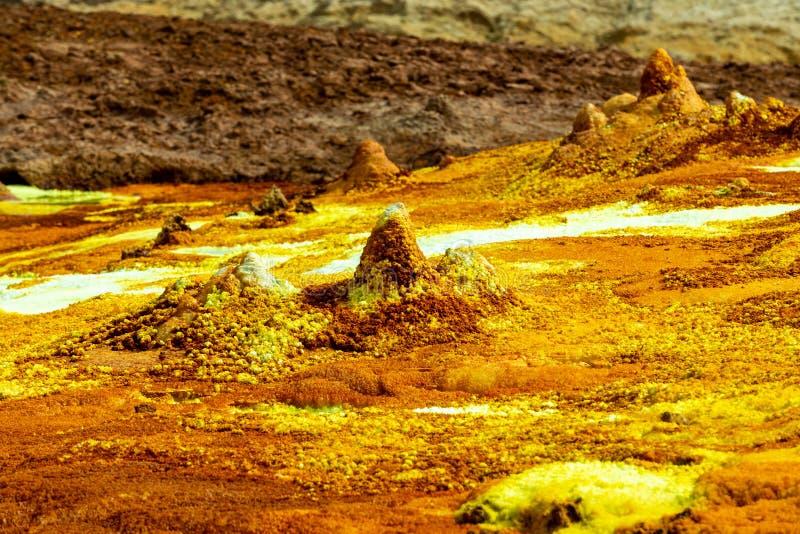 Dallol, Etiópia Depressão de Danakil imagens de stock