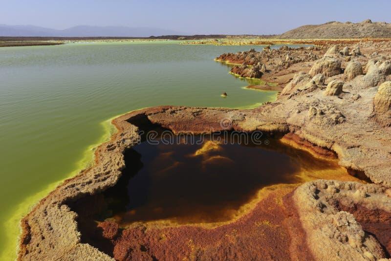 Dallol Volcano Danakil depression Ethiopia royalty free stock images
