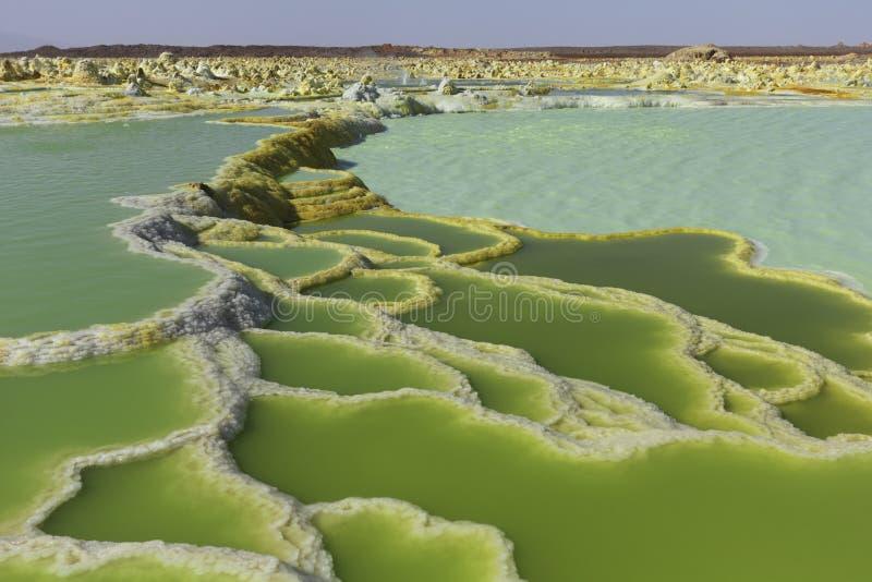 Dallol wulkanu Danakil depresja Etiopia obrazy stock