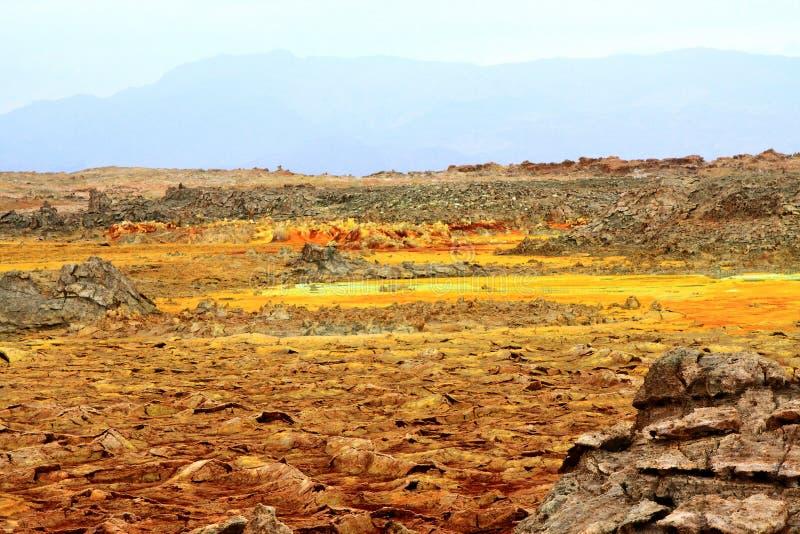Dallolkrater, Ethiopië, Oost-Afrika stock foto's