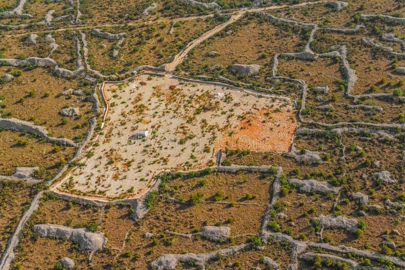 Dalmatia antena zdjęcie royalty free