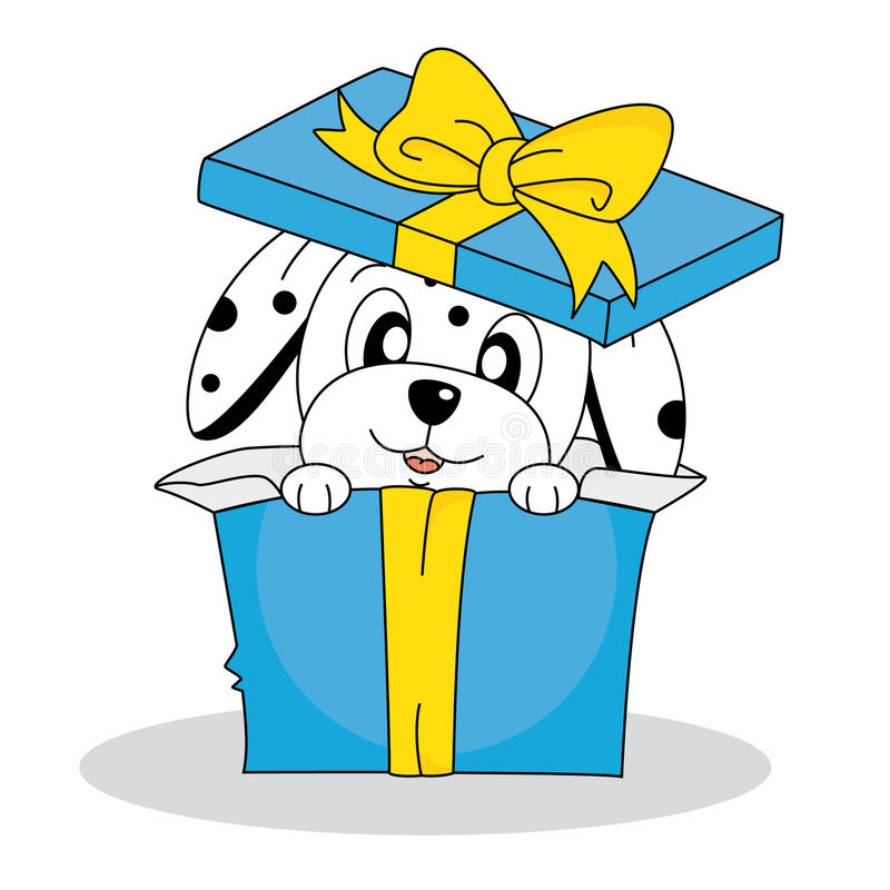Download Dalmatian Dog Out Of A Gift Box Stock Vector - Illustration of love, animal: 26768980