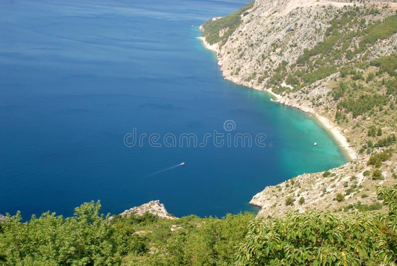 Dalmatian kust arkivbilder