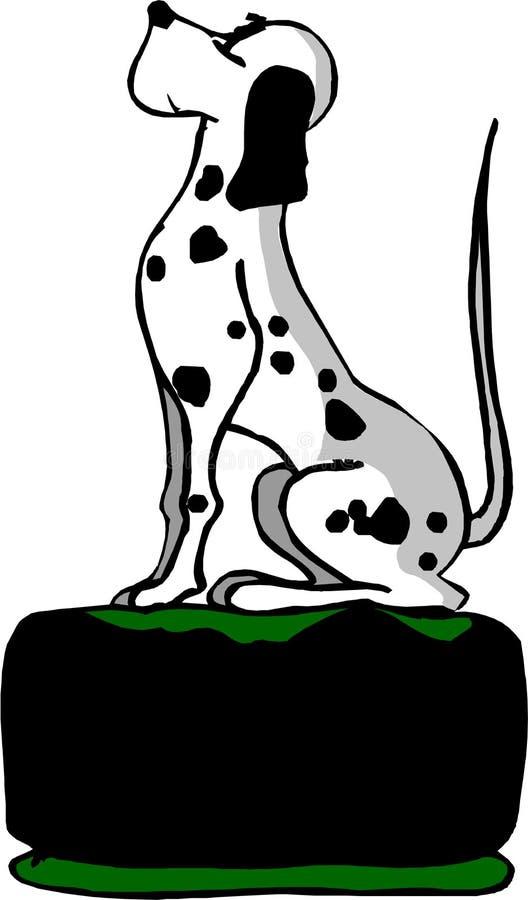 dalmatian psi obsiadanie ilustracji