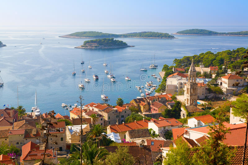 Dalmatinische Küste stockbild
