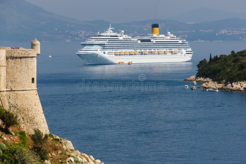 Dalmatinische Küste Bartizan dubrovnik kroatien lizenzfreie stockbilder