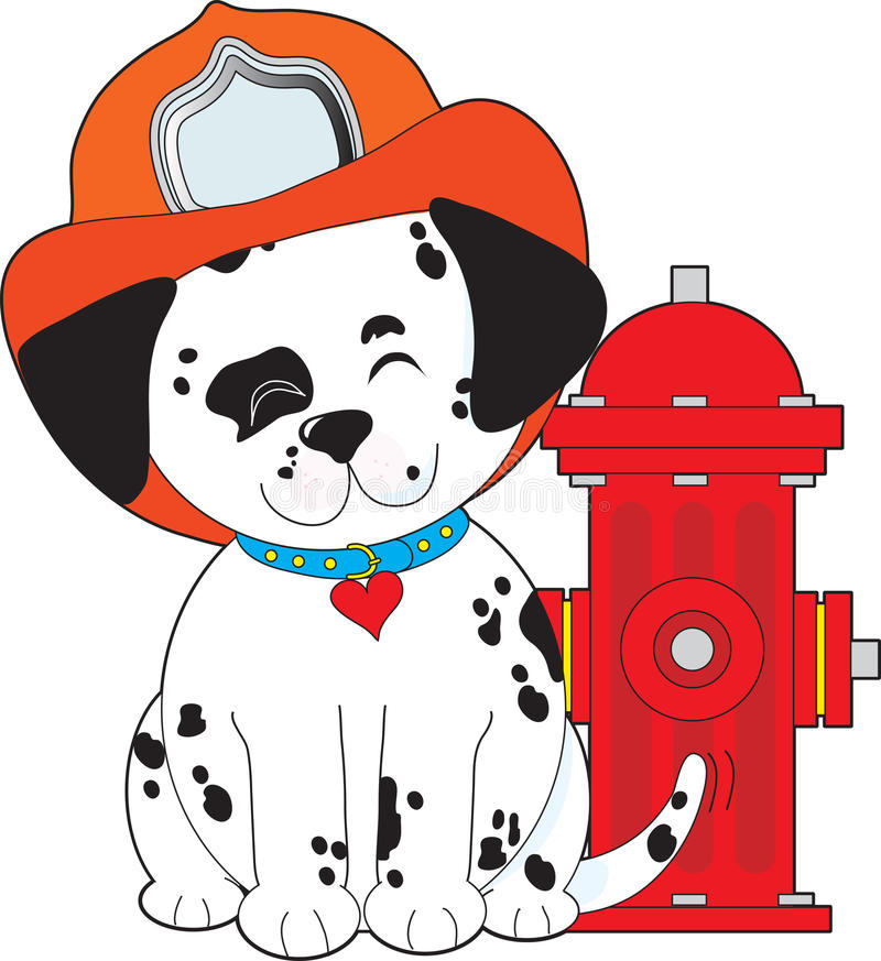 Dalmation Feuer-Hund vektor abbildung