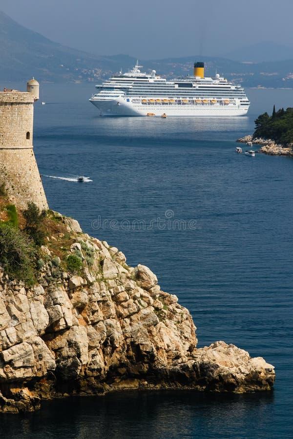 Dalmatische kust Bartizan dubrovnik Kroatië royalty-vrije stock afbeeldingen