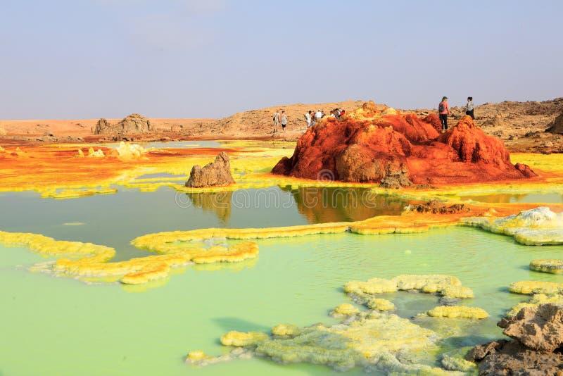 Dalol öken i Etiopien fotografering för bildbyråer