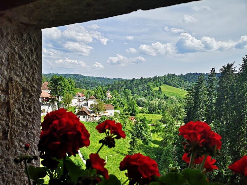Dalsikt från fönster royaltyfri fotografi