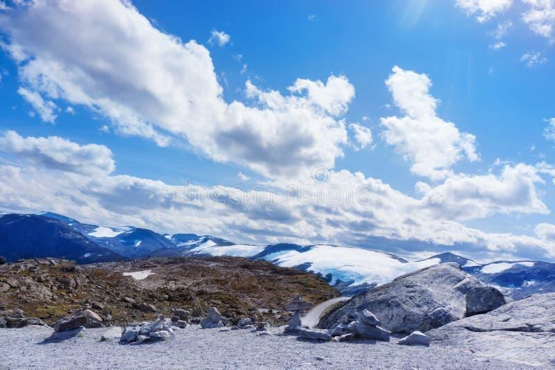 Dalsnibba и ледники стоковое изображение