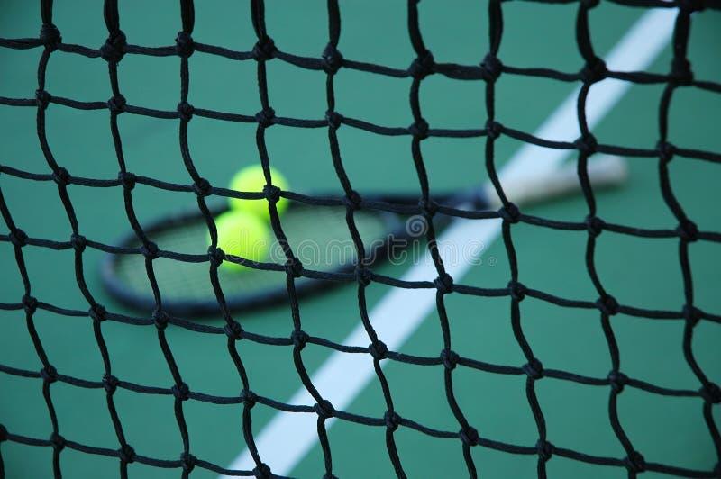 dalsze zbliżenie tenis netto zdjęcia stock