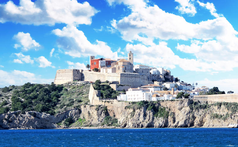 Dalt vila городка Ibiza стоковое изображение rf