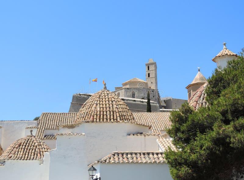 Dalt vila de ville d'Ibiza images stock