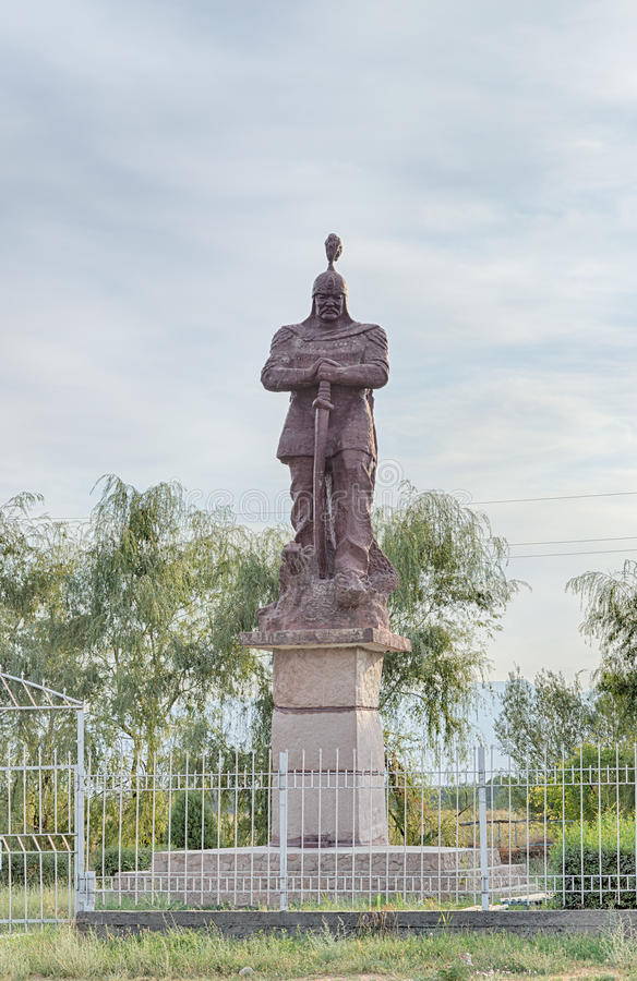 DalTalas, Kirgizistan - Augusti 15, 2016: Monument till Manas royaltyfria bilder