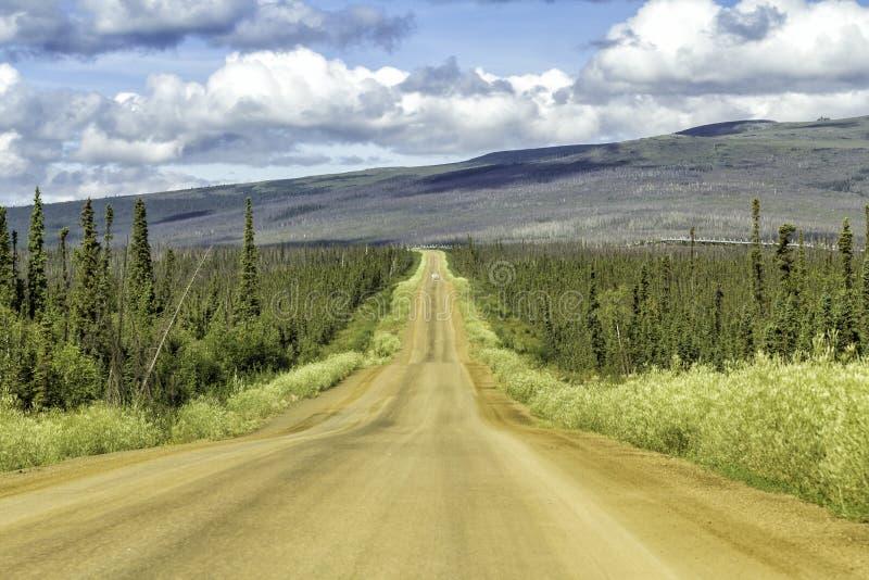 Dalton Highway em Alaska imagens de stock