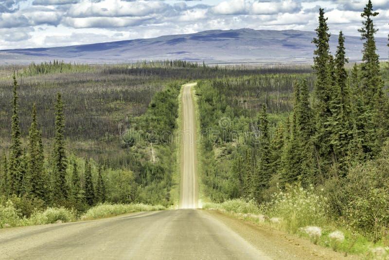 Dalton Highway en Alaska fotografía de archivo