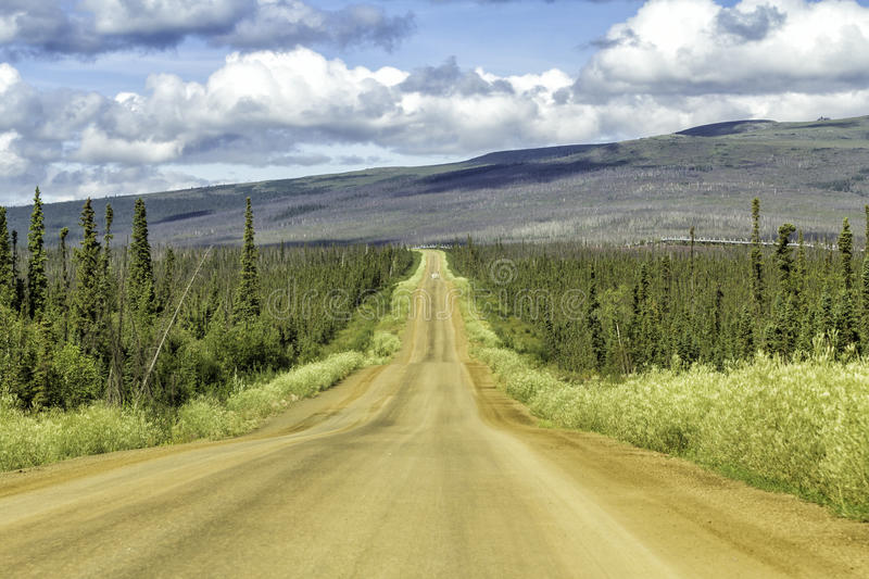 Dalton Highway en Alaska images stock