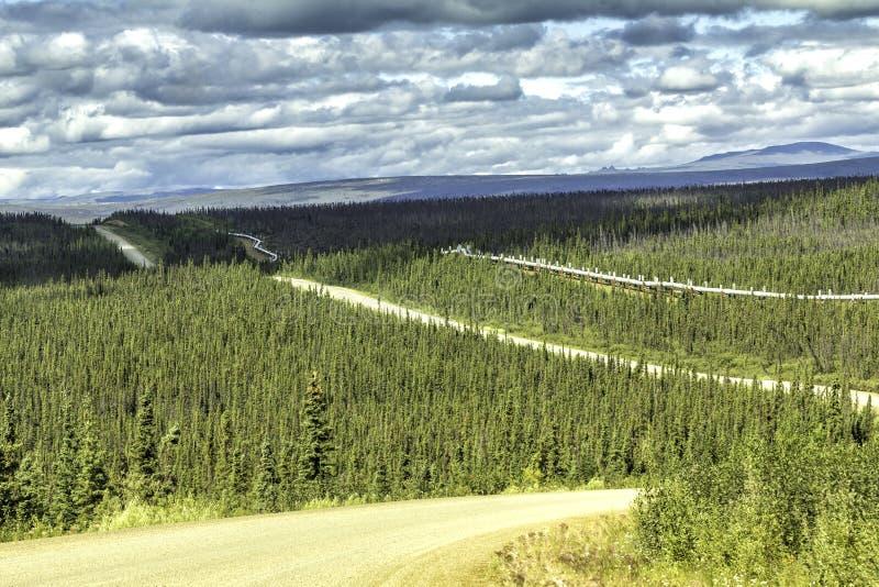 Dalton Highway en Alaska imagenes de archivo