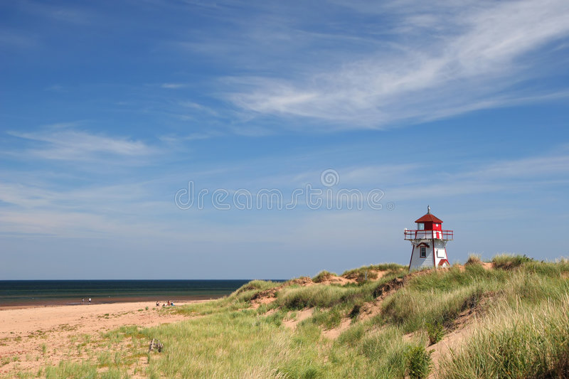 Dalvay Lighthouse, Prince Edward Island. Lighthouse at Dalvay, in Cavendish National Park, on the north side of Prince Edward Island, Canada royalty free stock photo