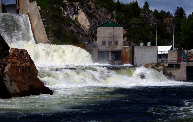 Dam 4 van de cascade royalty-vrije stock afbeeldingen