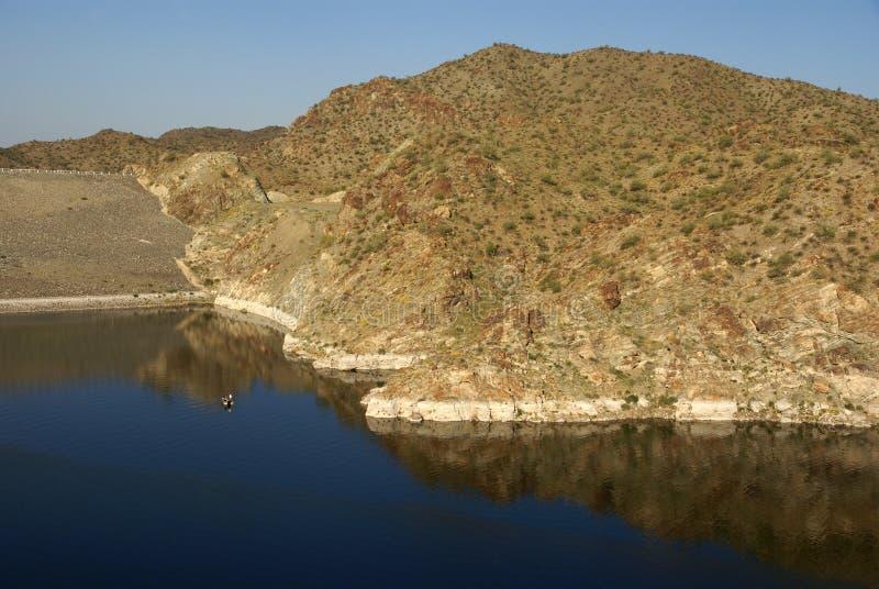 Dam at Alamo Lake State Park royalty free stock image